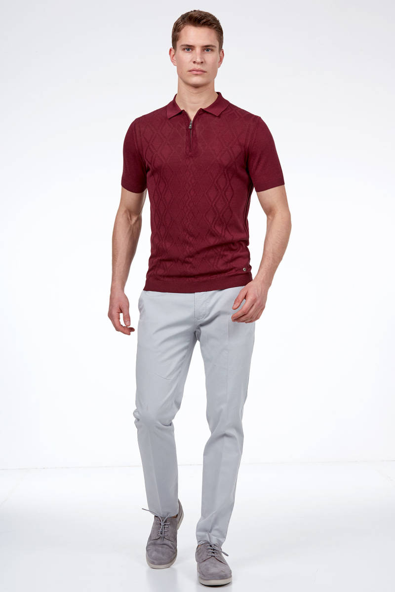 Hemington - Bordo İpek Triko Polo T-Shirt (1)