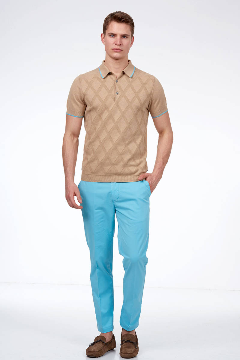 Hemington - Camel Triko Polo T-Shirt (1)