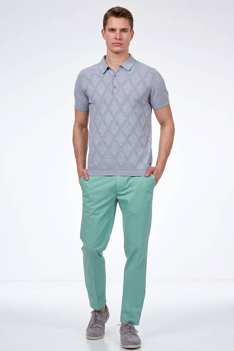 Hemington - Gri Triko Polo T-Shirt (1)