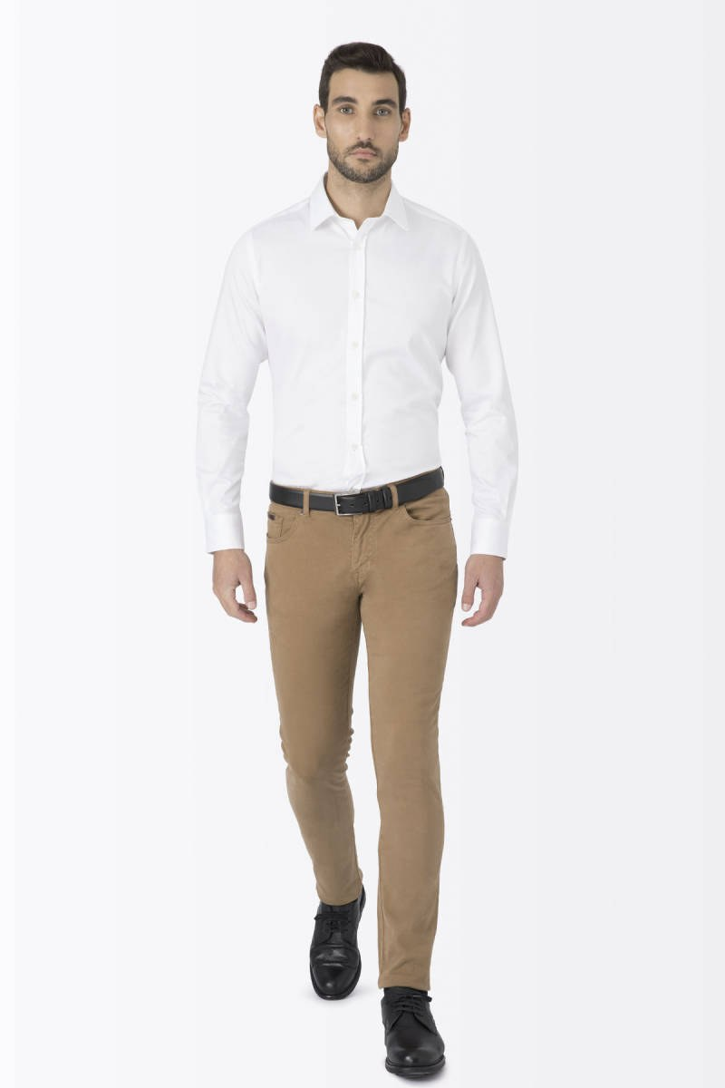 Hemington - Kadife Dokulu Tobacco Slim Fit Kanvas Pantolon (1)