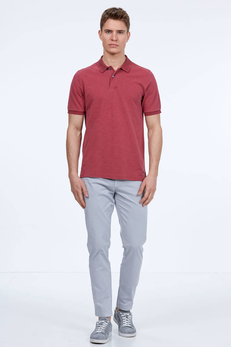 Hemington - Açık Bordo Vintage Polo Yaka T-Shirt (1)