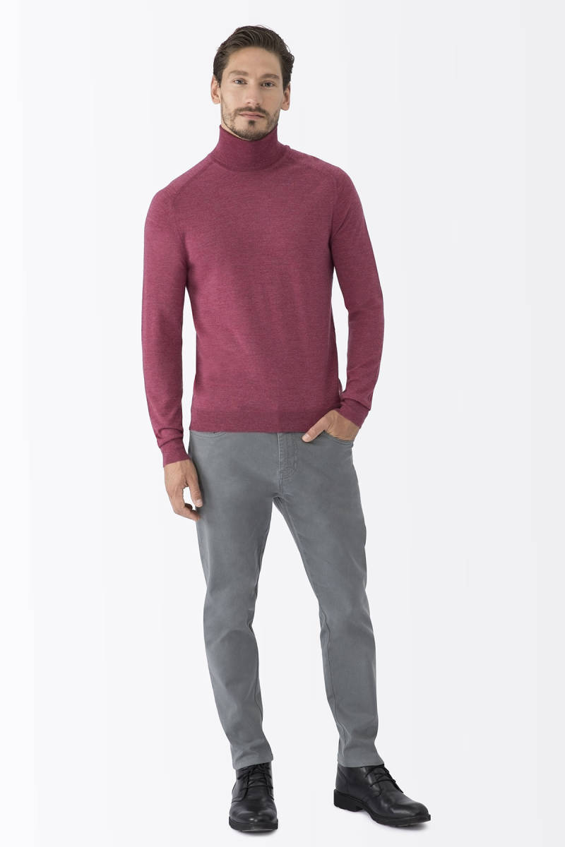 Hemington - Rose Wood Boğazlı Slim Fit Merino Yün Triko (1)