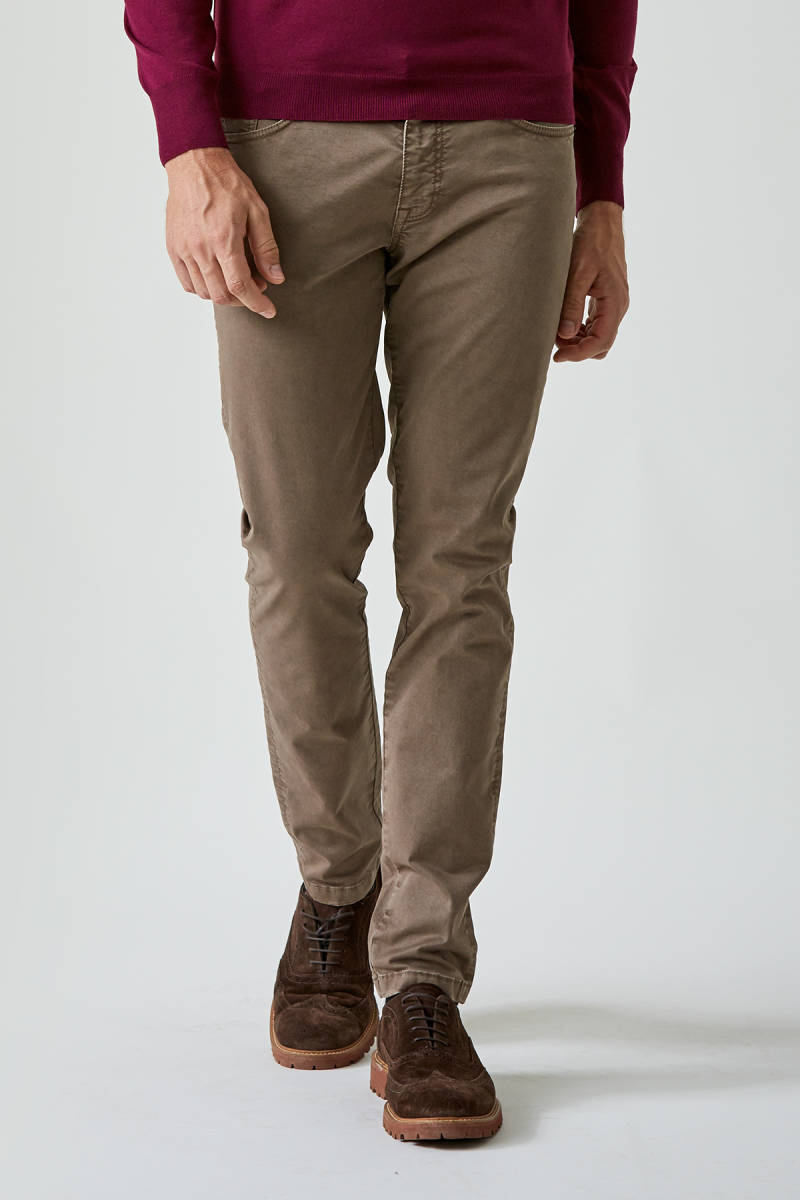 Tobacco Slim Fit Chino Pantolon